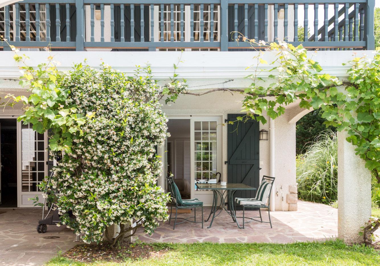Terrasse privative studio chambre hote golfetmer saint jean de luz